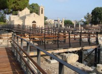Chrisopolitissa Church - Construction of footbridge